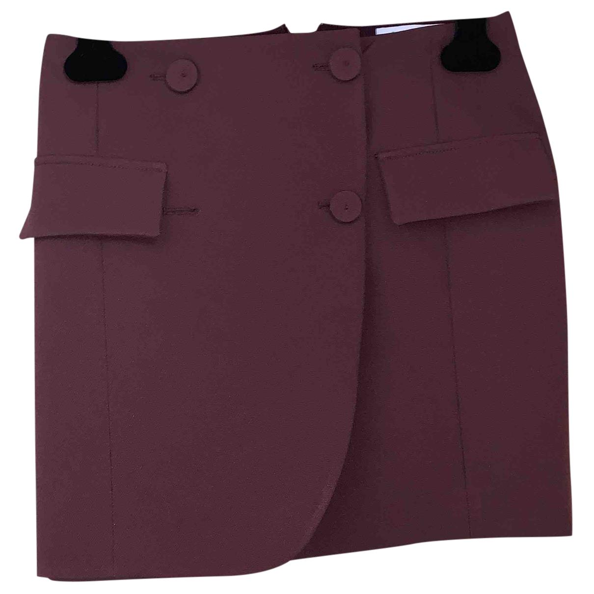 Patrizia Pepe N Burgundy skirt for Women 40 IT