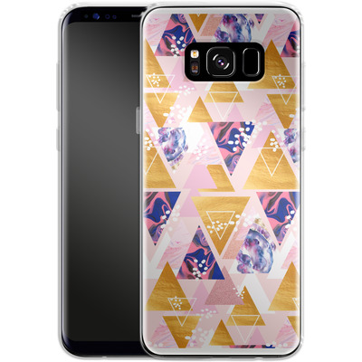 Samsung Galaxy S8 Silikon Handyhuelle - Blush GEO von Mukta Lata Barua