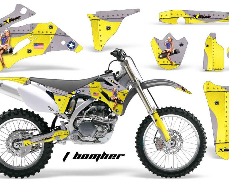 AMR Racing Dirt Bike Graphics Kit Decal Wrap For Yamaha YZ250F YZ450F 2006-2009áTBOMBER YELLOW