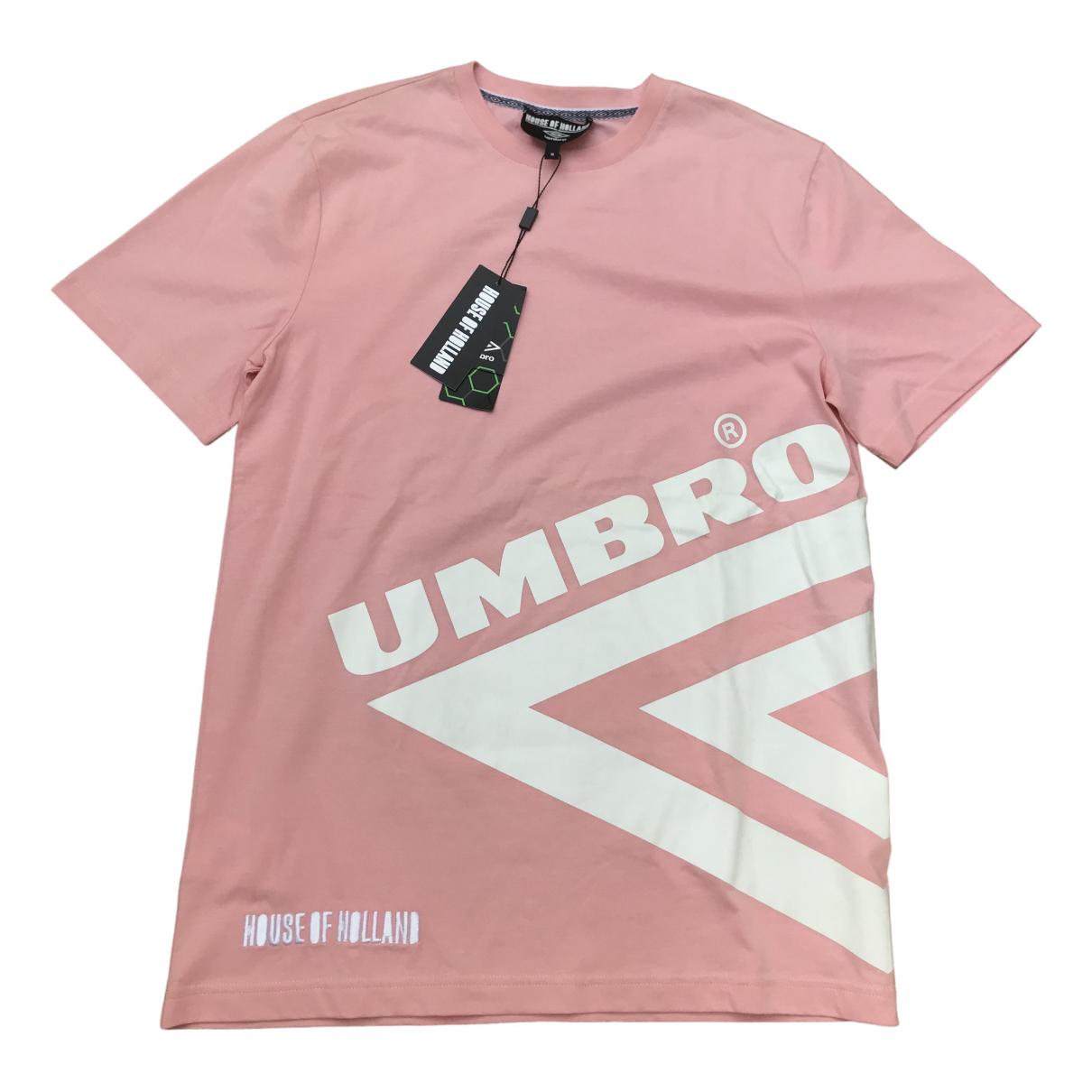Umbro - Tee shirts   pour homme en coton - rose