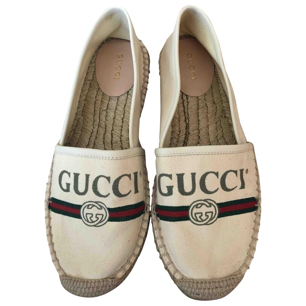 Gucci - Espadrilles   pour femme en toile - beige