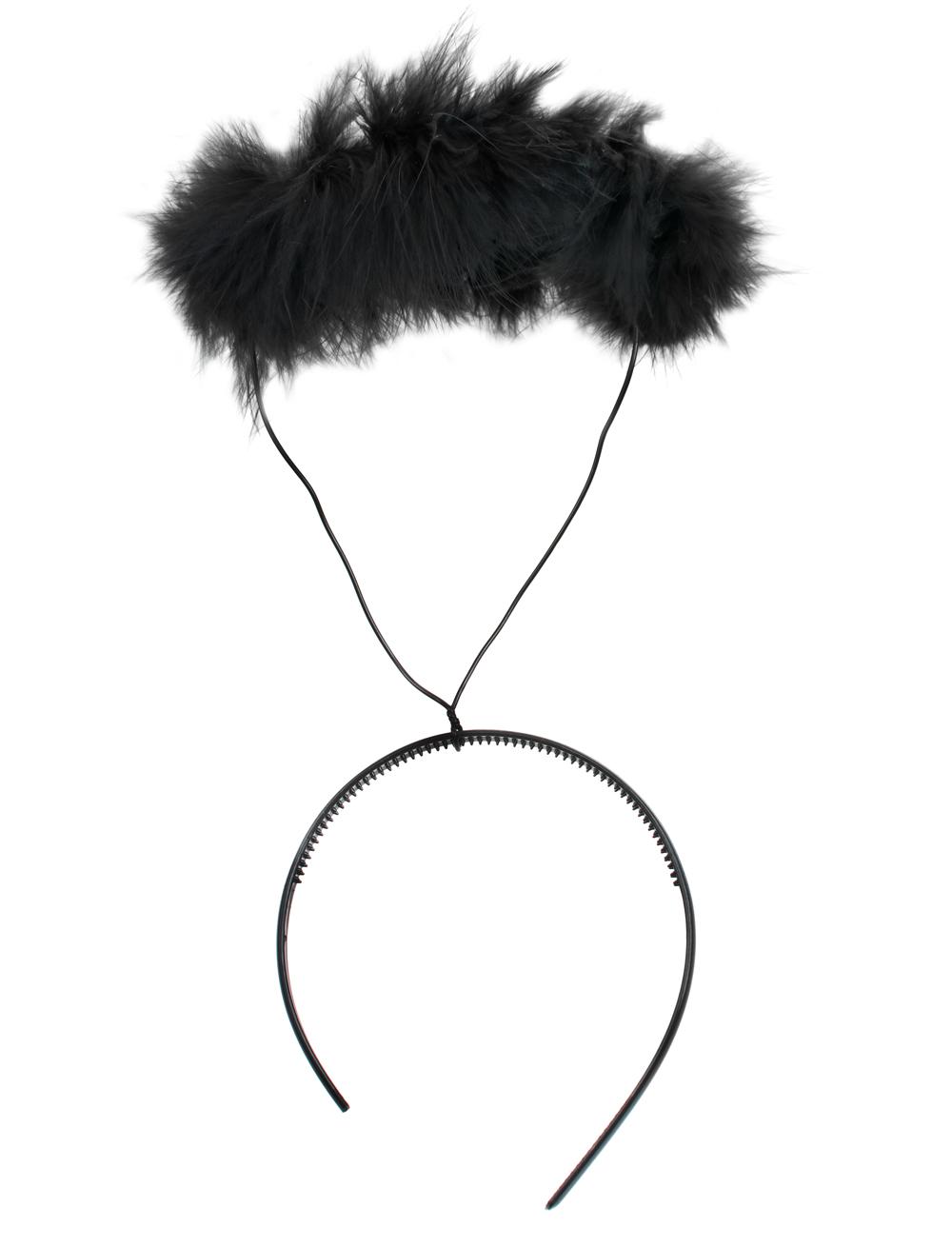 Kostuemzubehor Haarreif Heiligenschein schwarz