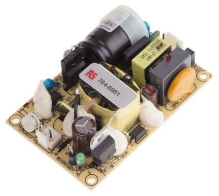 Mean Well , 25W Embedded Switch Mode Power Supply SMPS, 24V dc, Open Frame