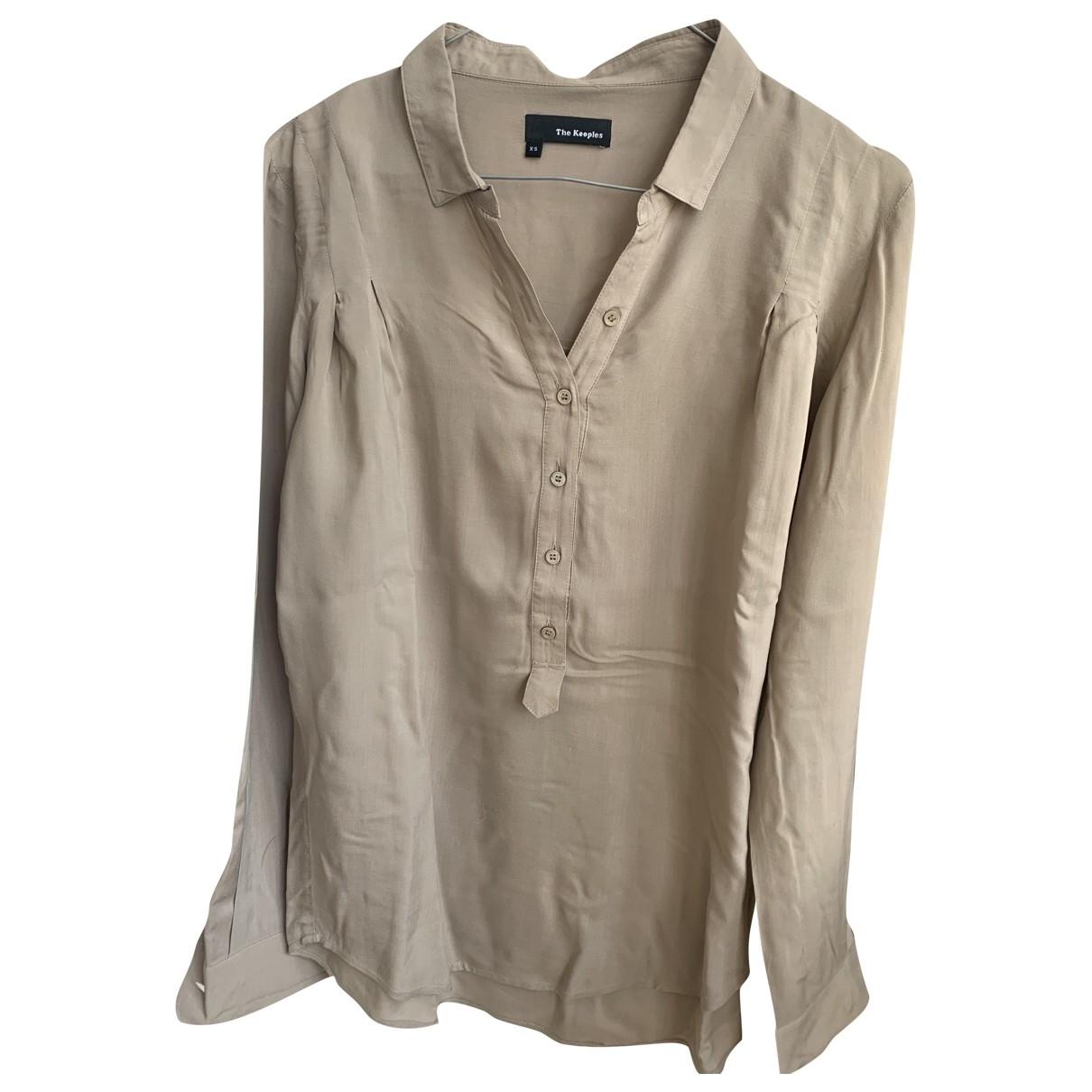 The Kooples \N Beige Cotton  top for Women 36 FR