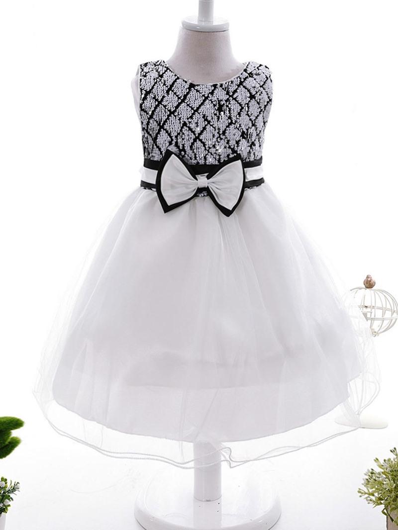 Ericdress Sequins Bow Tutu Girls Dress