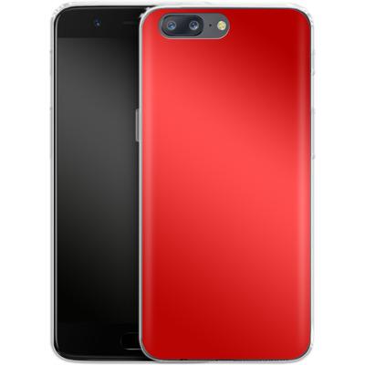 OnePlus 5 Silikon Handyhuelle - Test Red von caseable Designs