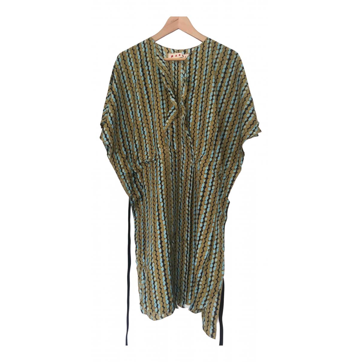 Marni N Green Silk dress for Women 42 IT
