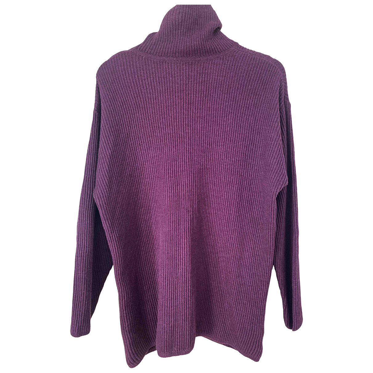 - Pull   pour femme en laine - violet
