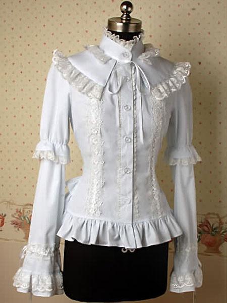 Milanoo Blusa de lolita de 100% algodon de estilo gotico