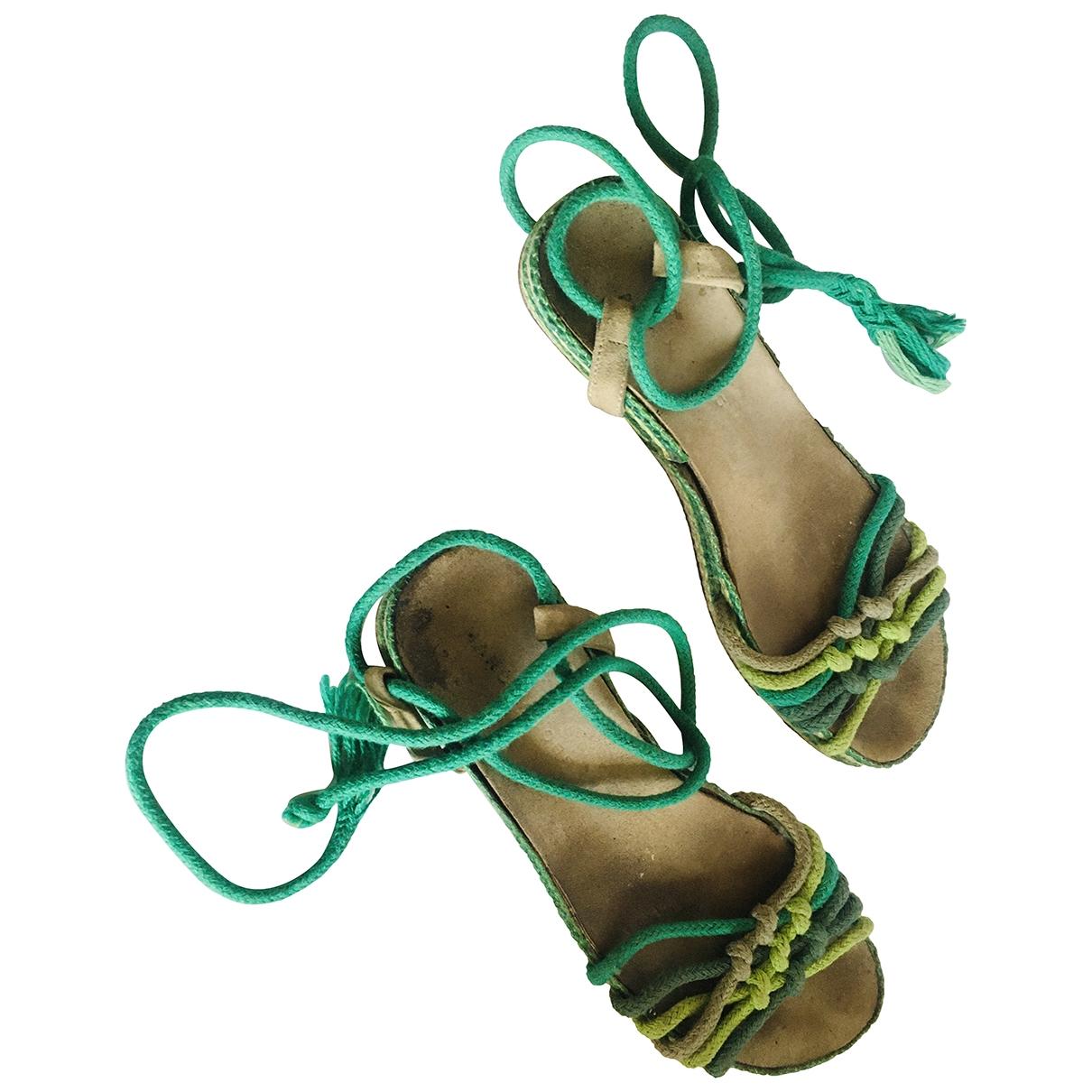 Marc Jacobs - Espadrilles   pour femme en toile - vert