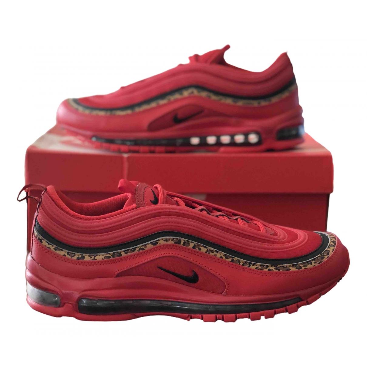 Nike - Baskets Air Max 97 pour homme en cuir - rouge