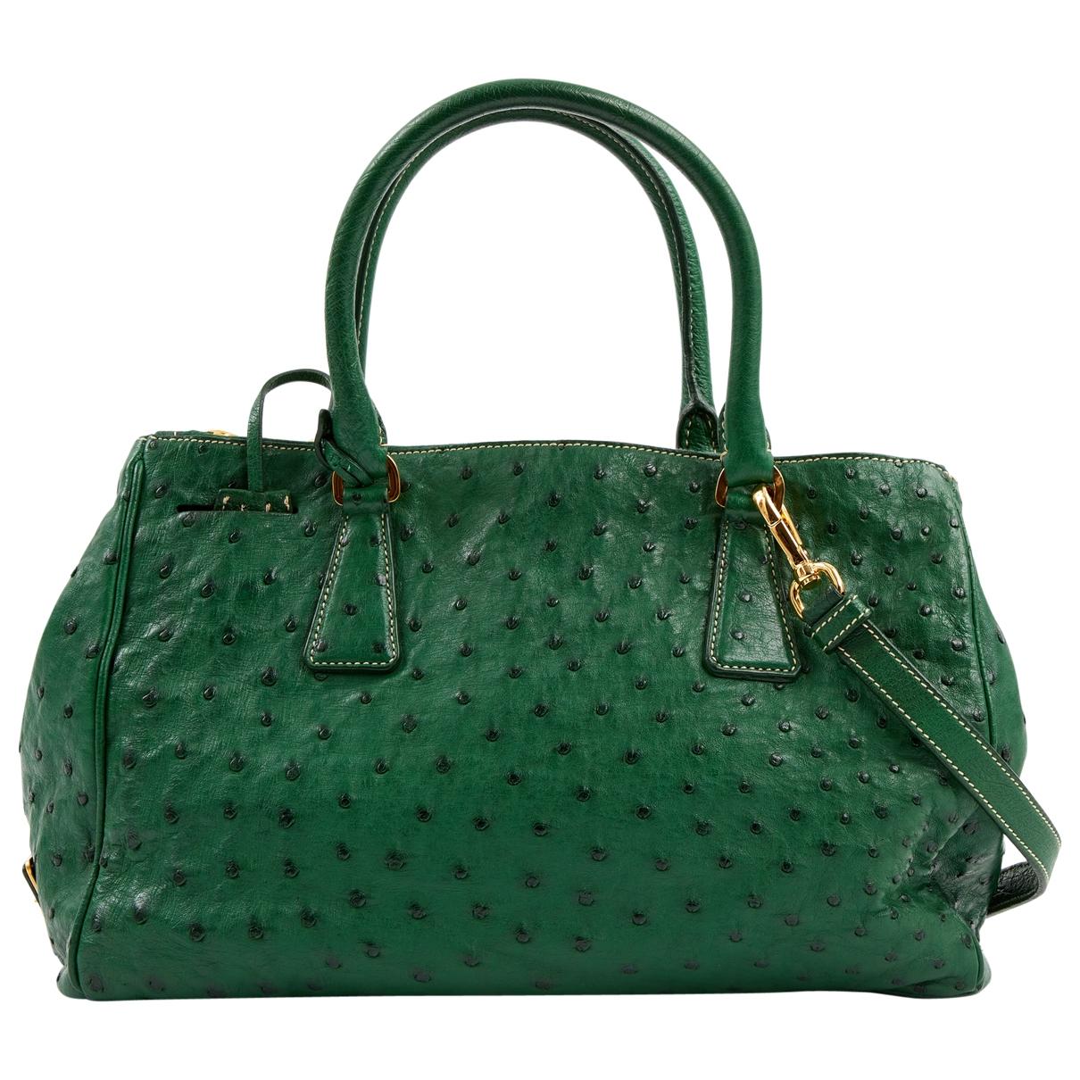 Prada \N Green Ostrich handbag for Women \N