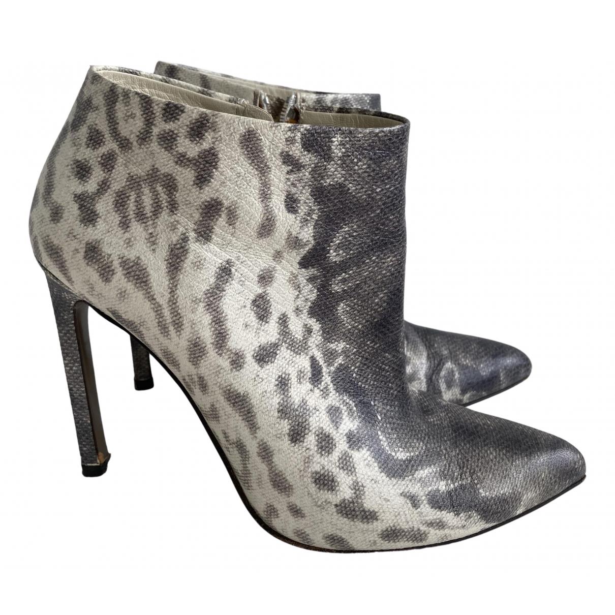 Gucci N Grey Python Boots for Women 37 EU
