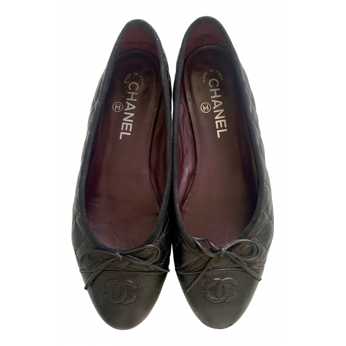 Chanel \N Black Leather Ballet flats for Women 38 EU