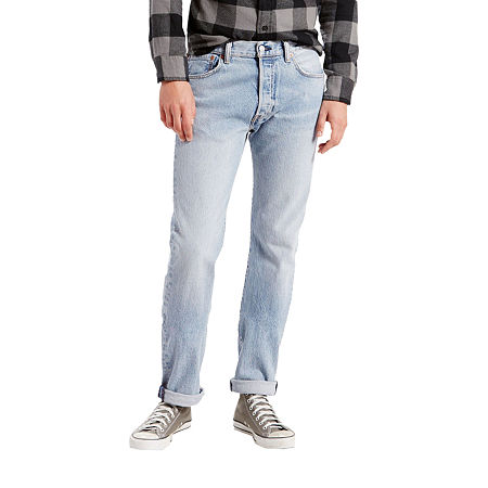Levi's Mens Mid Rise 501 Straight Leg Jean, 30 34, Blue