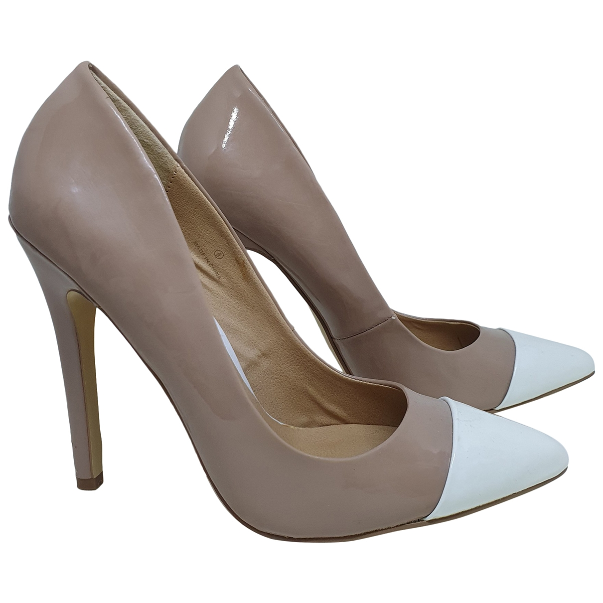Asos \N Beige Patent leather Heels for Women 38.5 EU