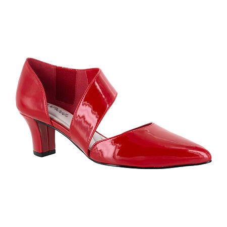 Easy Street Womens Dashing Pumps Spike Heel, 7 Medium, Red