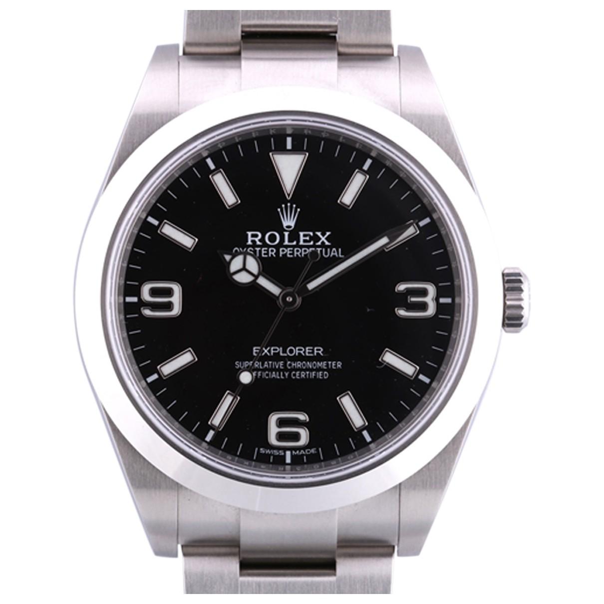 Rolex Explorer 39mm Uhr in  Schwarz Stahl