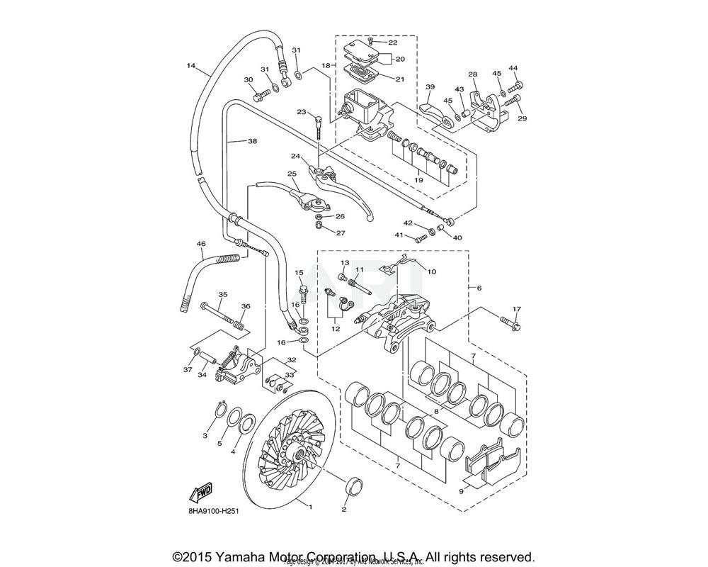 Yamaha OEM 8FU-W0046-01-00 BRAKE PAD KIT 2