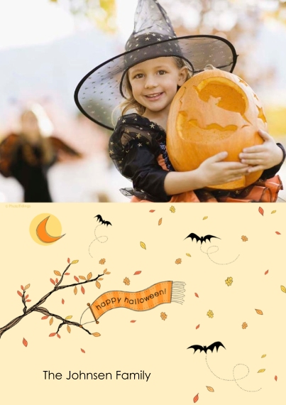 Halloween Photo Cards 5x7 Cards, Premium Cardstock 120lb with Elegant Corners, Card & Stationery -happy halloween!