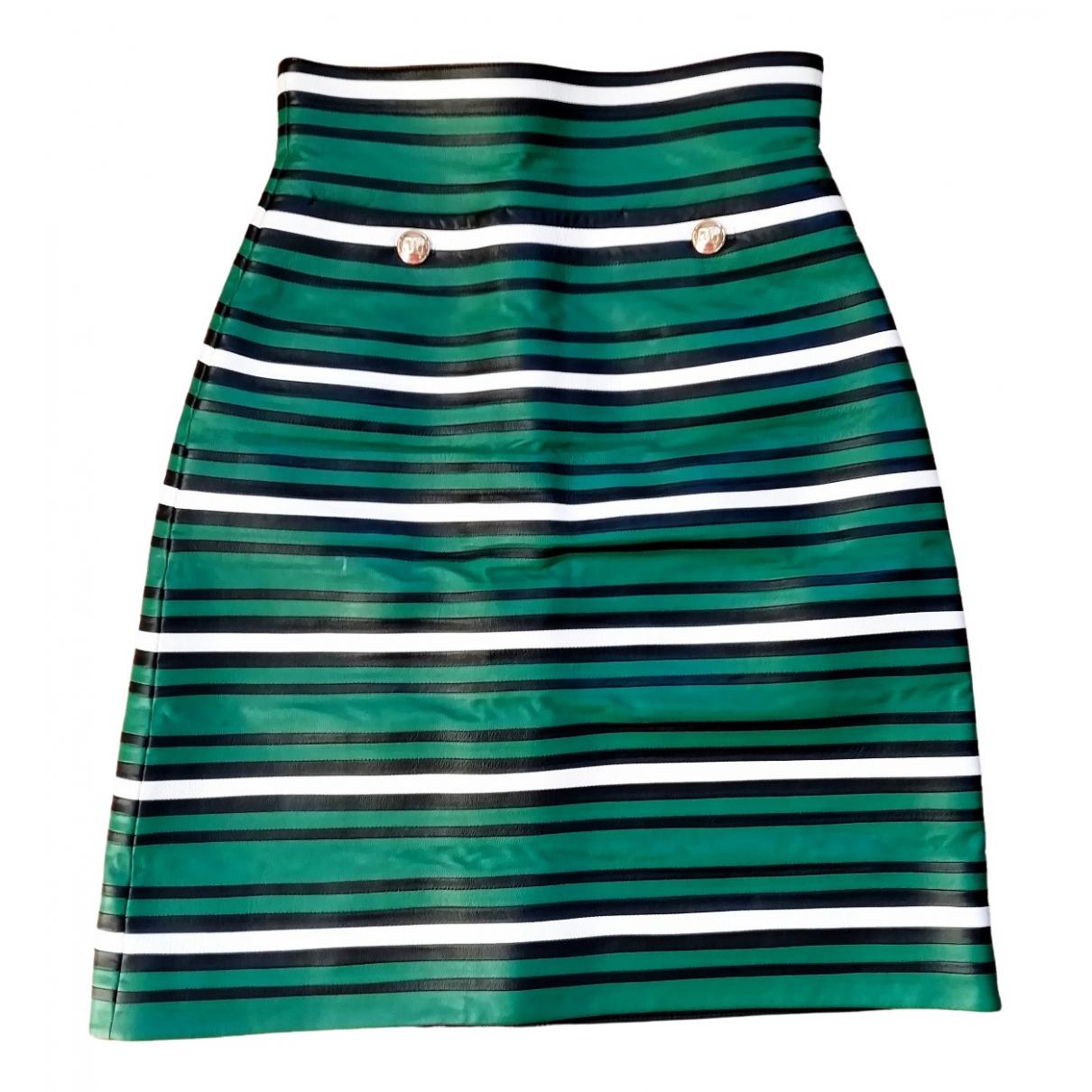 Escada - Jupe   pour femme en cuir - vert