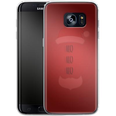 Samsung Galaxy S7 Edge Silikon Handyhuelle - Ho Ho Ho von caseable Designs