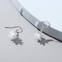 Crystal Snowflake Drop Earrings