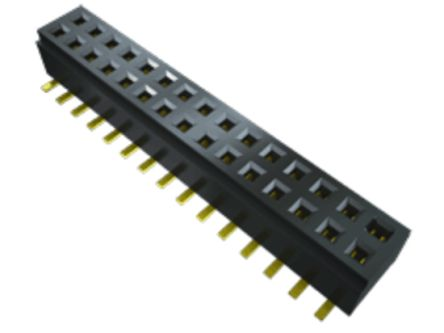 Samtec , CLM 1mm Pitch 32 Way 2 Row Straight PCB Socket, Surface Mount, Solder Termination (35)