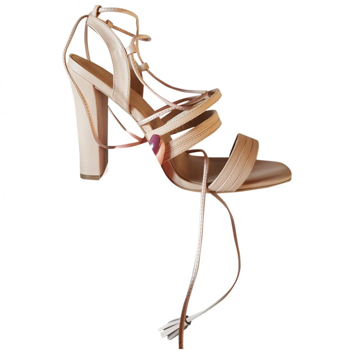 Minelli - Sandales   pour femme en cuir - beige