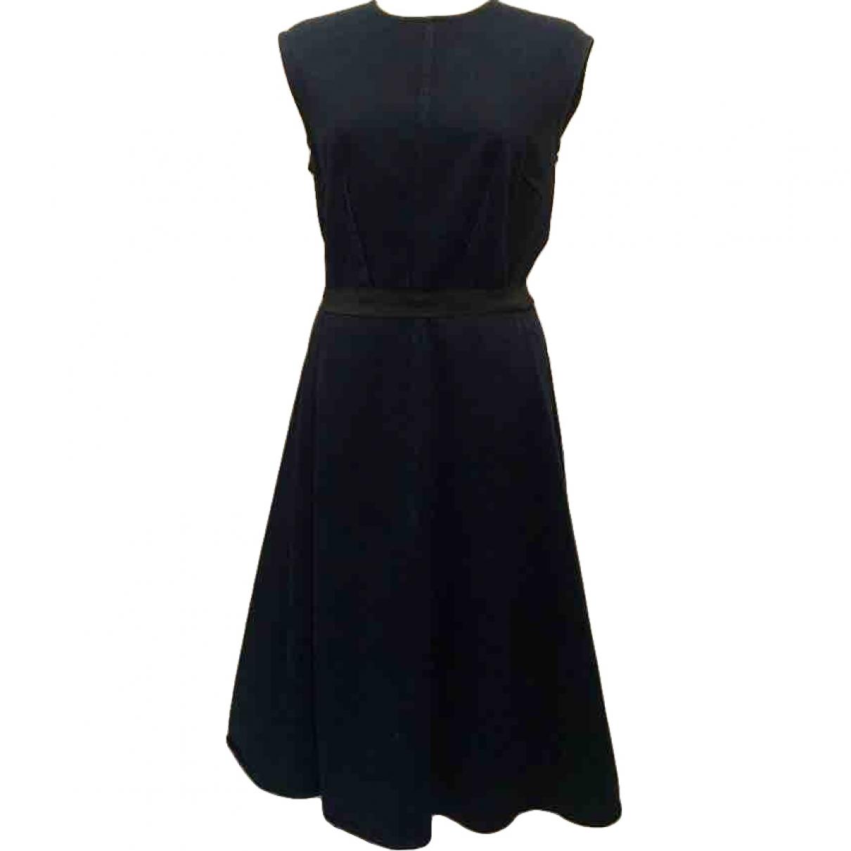 Lanvin \N Navy Cotton dress for Women 38 FR