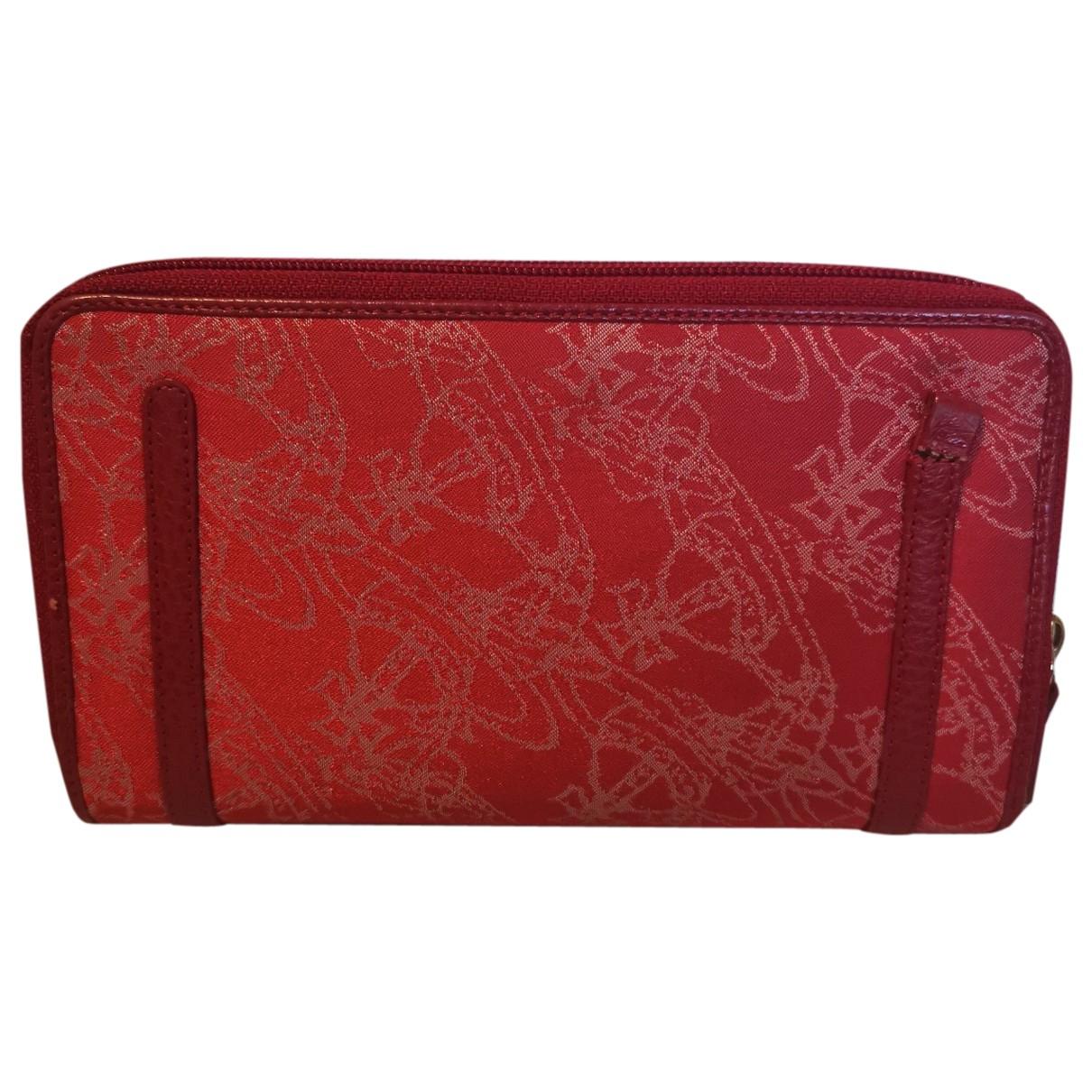 Vivienne Westwood - Portefeuille   pour femme en toile - rouge