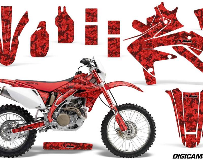 AMR Racing Dirt Bike Decal Graphics Kit Sticker Wrap For Honda CRF450X 2005-2016áDIGICAMO RED