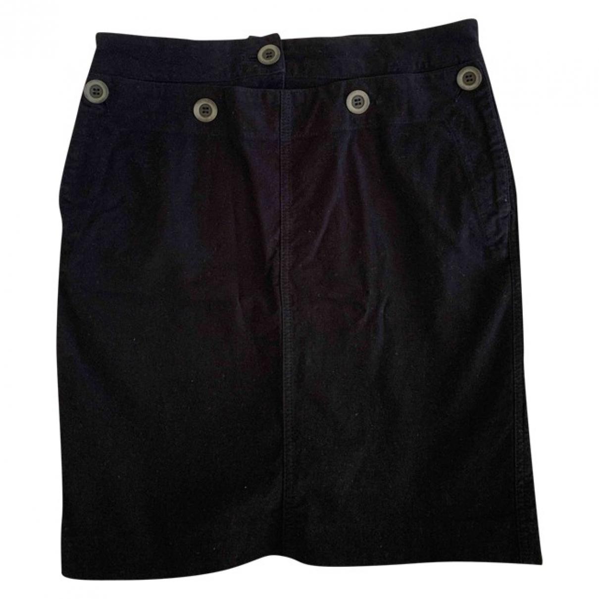 Max & Co \N Black Cotton - elasthane skirt for Women 38 IT