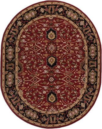 Caesar CAE-1031 8' x 10' Oval Traditional Rug in