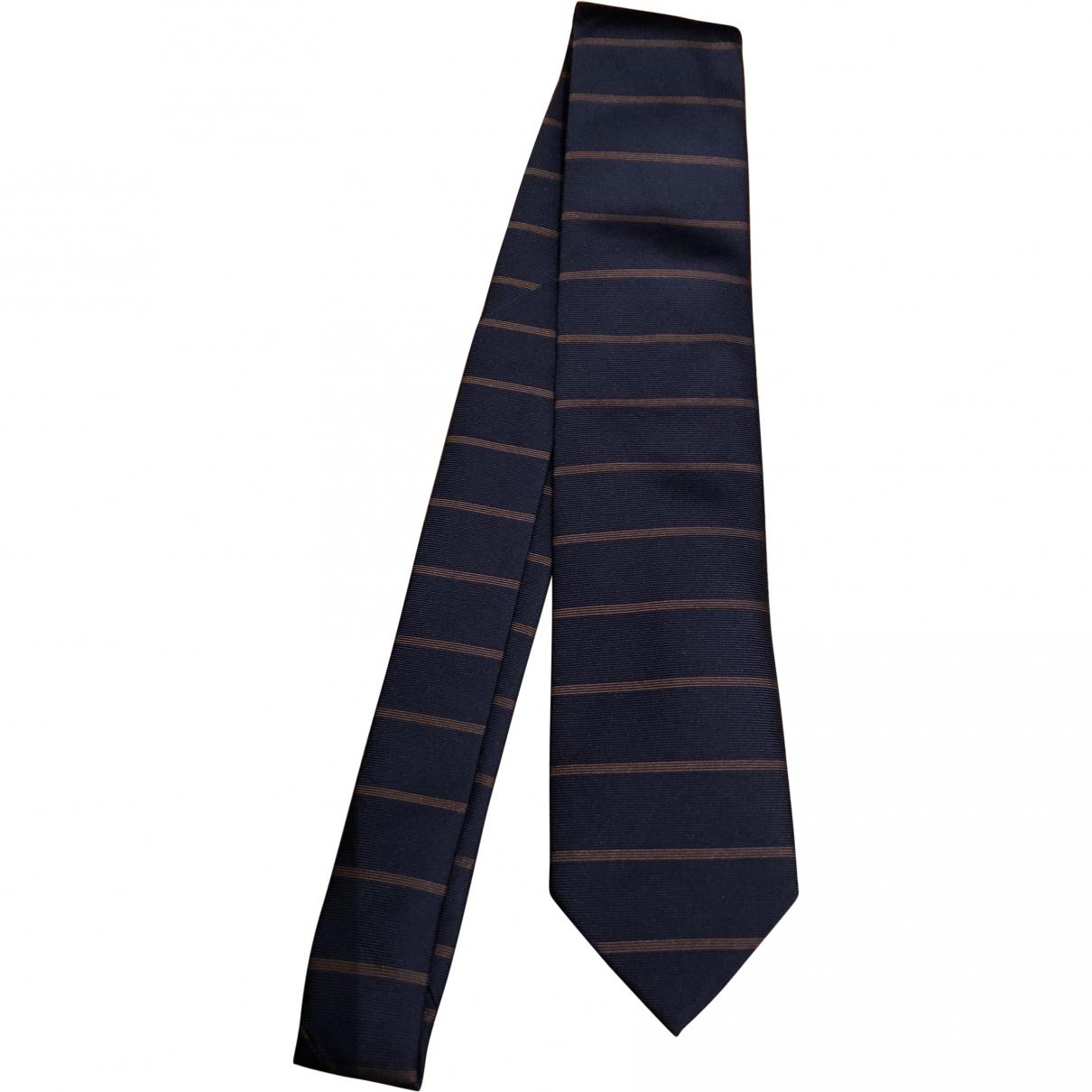 Arfango - Cravates   pour homme en soie - bleu