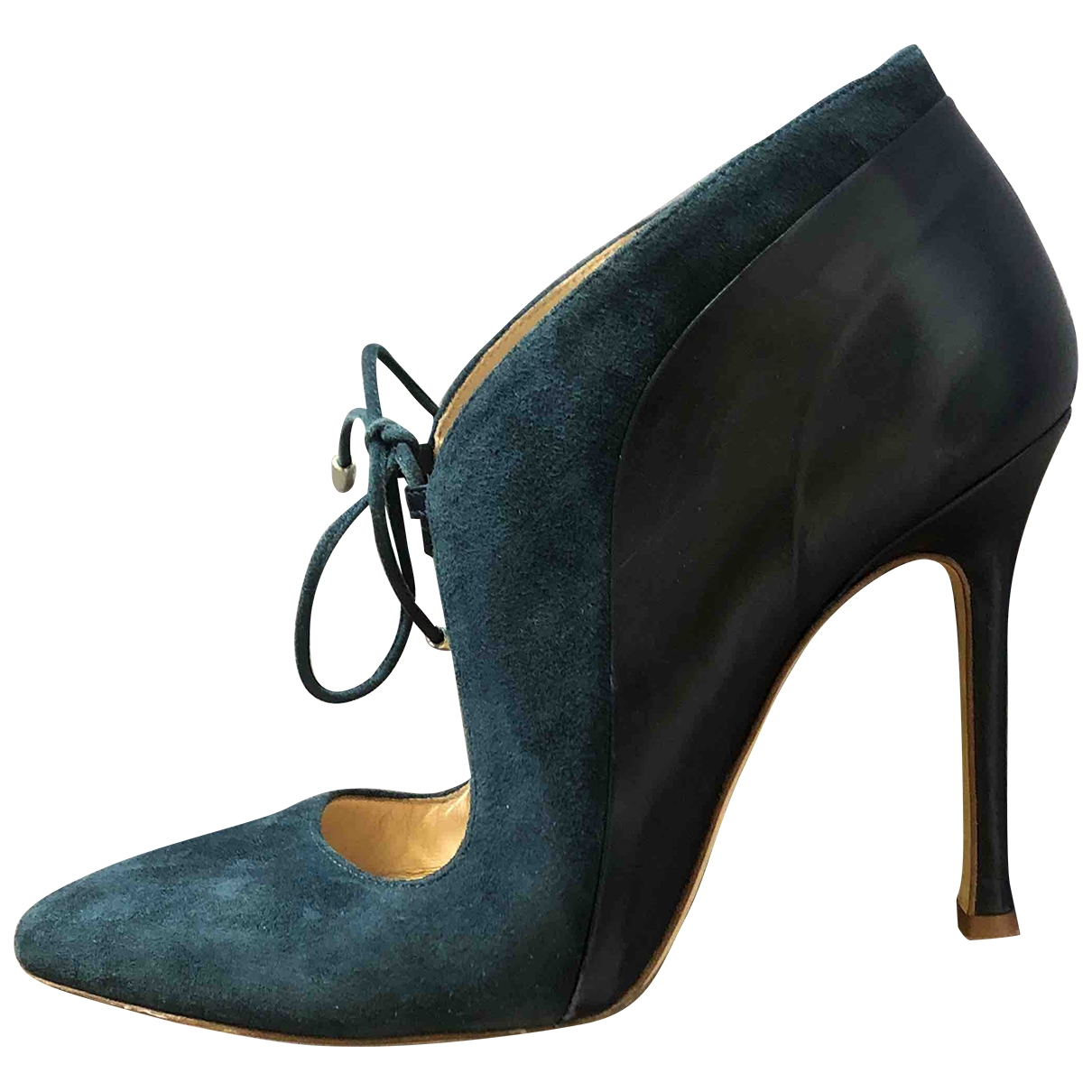 Chelsea Paris \N Blue Leather Heels for Women 38 EU