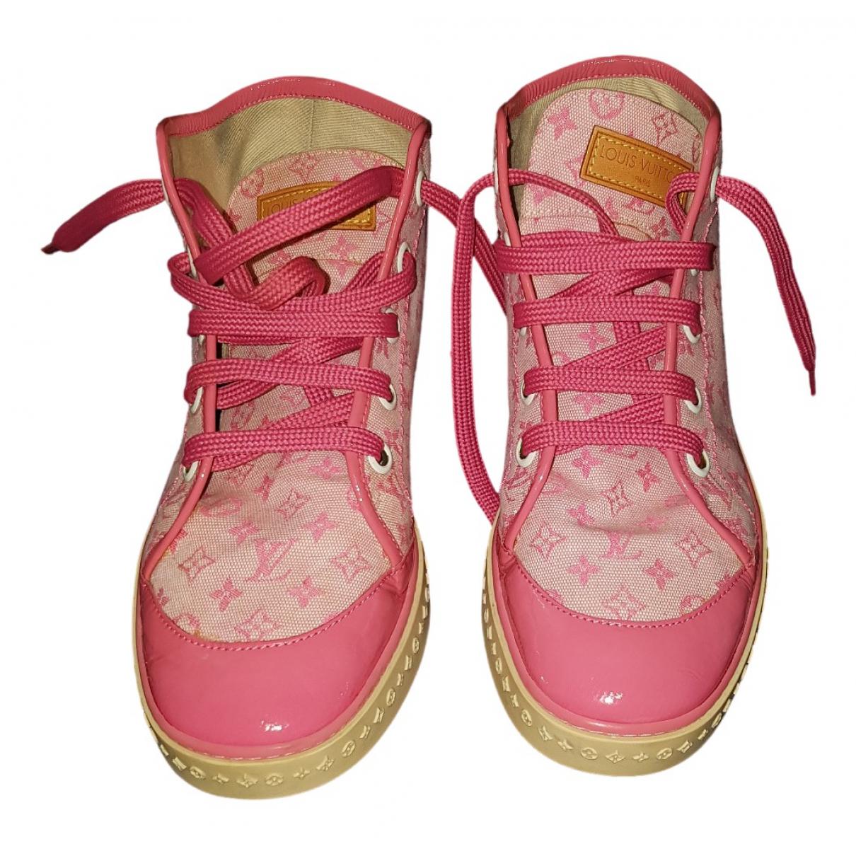 Louis Vuitton \N Pink Cloth Trainers for Women 36.5 EU