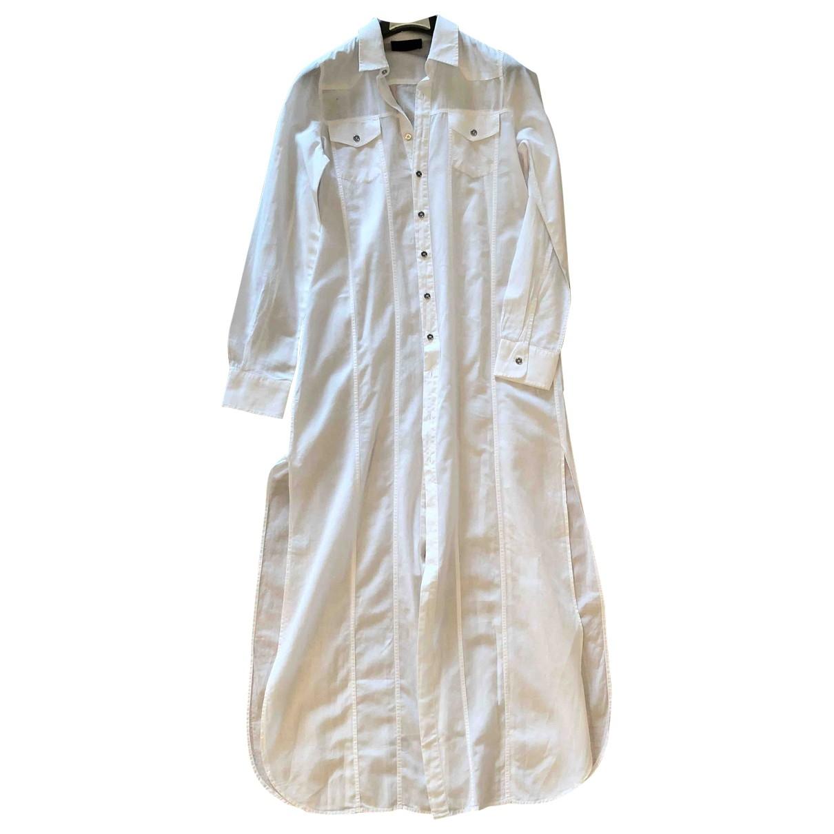 Diesel Black Gold \N Kleid in  Weiss Baumwolle