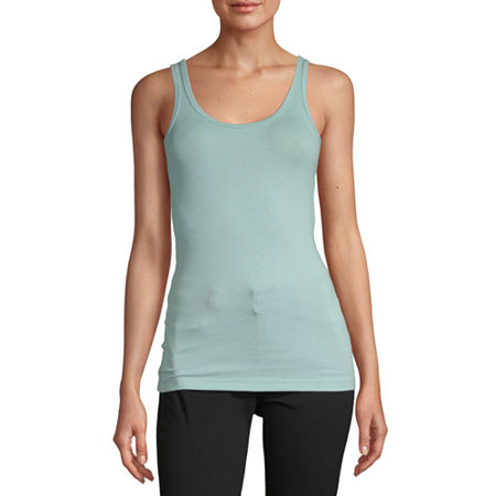 a.n.a Womens Scoop Neck Sleeveless Tank Top, Xx-large , Blue