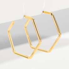 Geometric Design Hoop Earrings