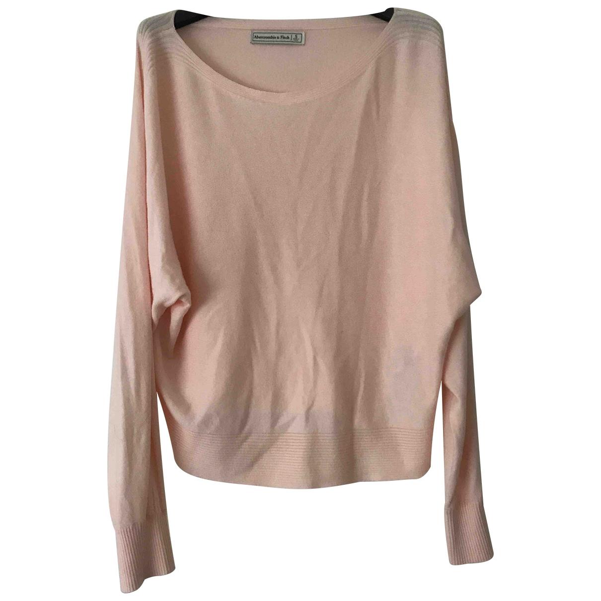 Abercrombie & Fitch - Pull   pour femme en coton - rose