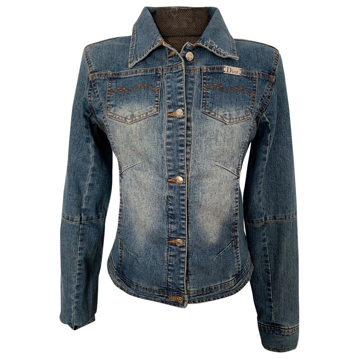 Dior \N Blue Cotton Leather jacket for Women 38 FR
