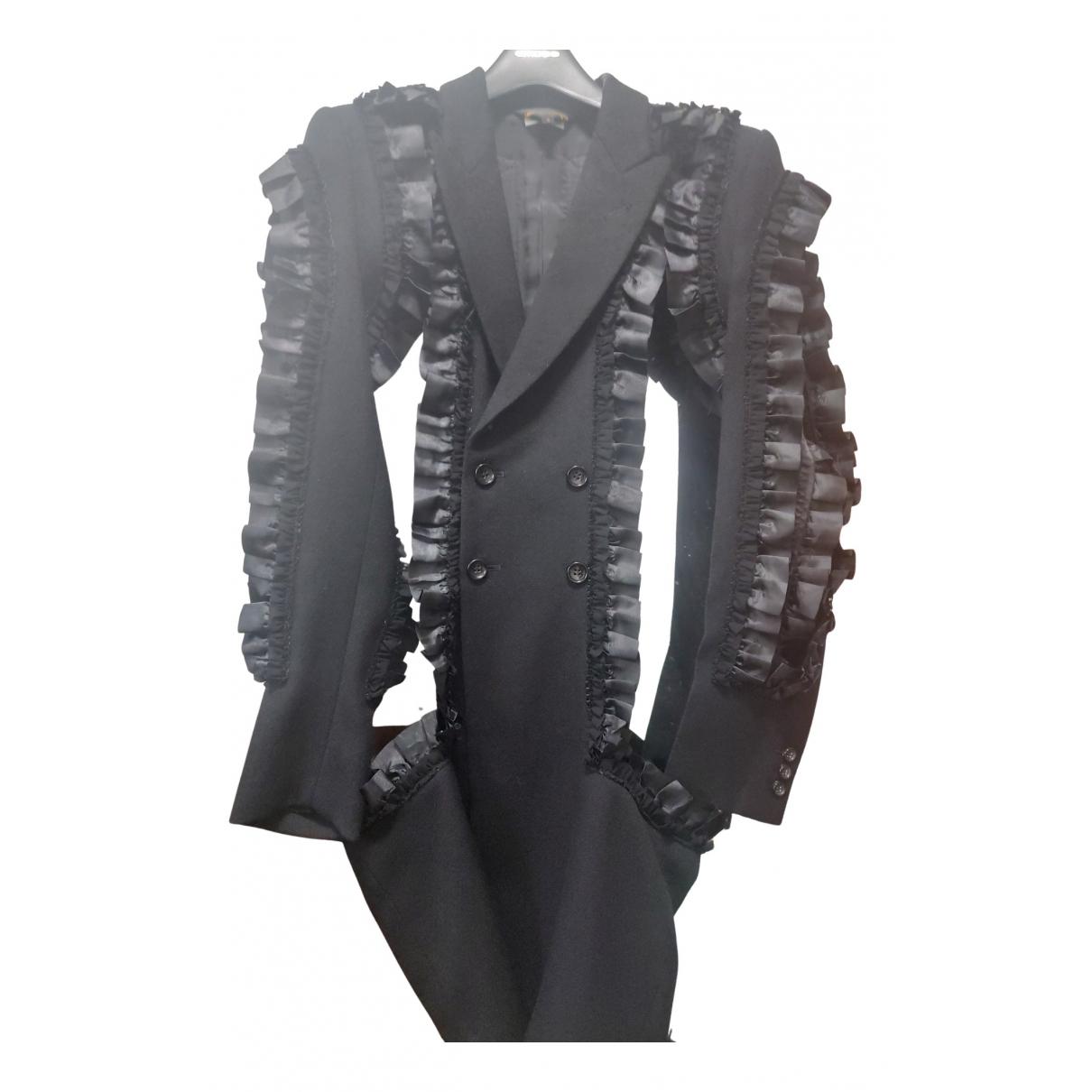 Comme Des Garcons - Manteau   pour femme en laine - noir