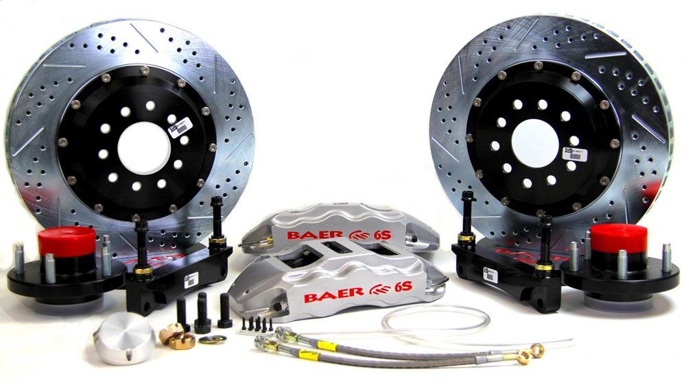Baer Brakes Brake System 14 Inch Front Extreme+ Silver 68-69 Ford Mustang