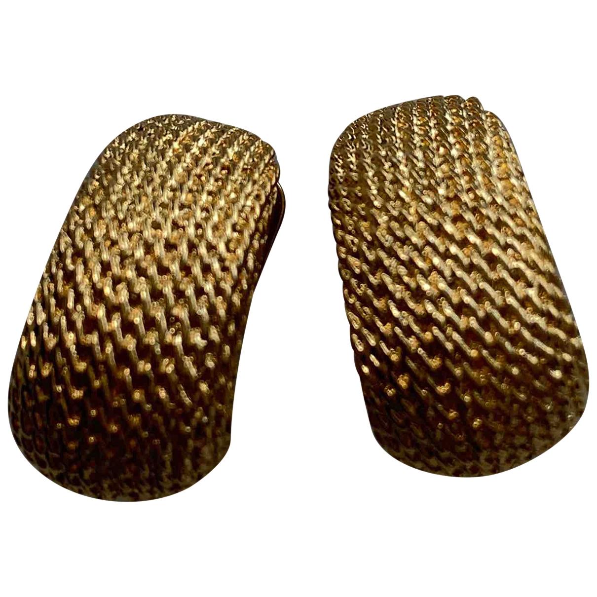 - Boucles doreilles Onyx pour femme en metal - dore