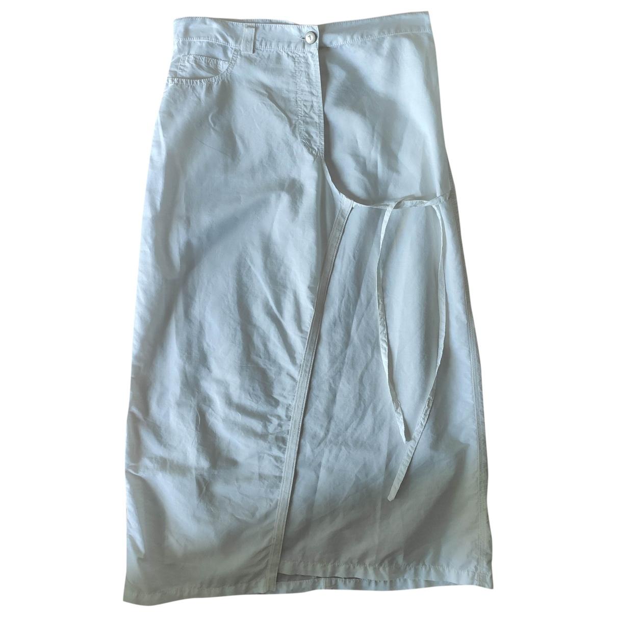 Trussardi Jeans \N Rocke in  Weiss Leinen