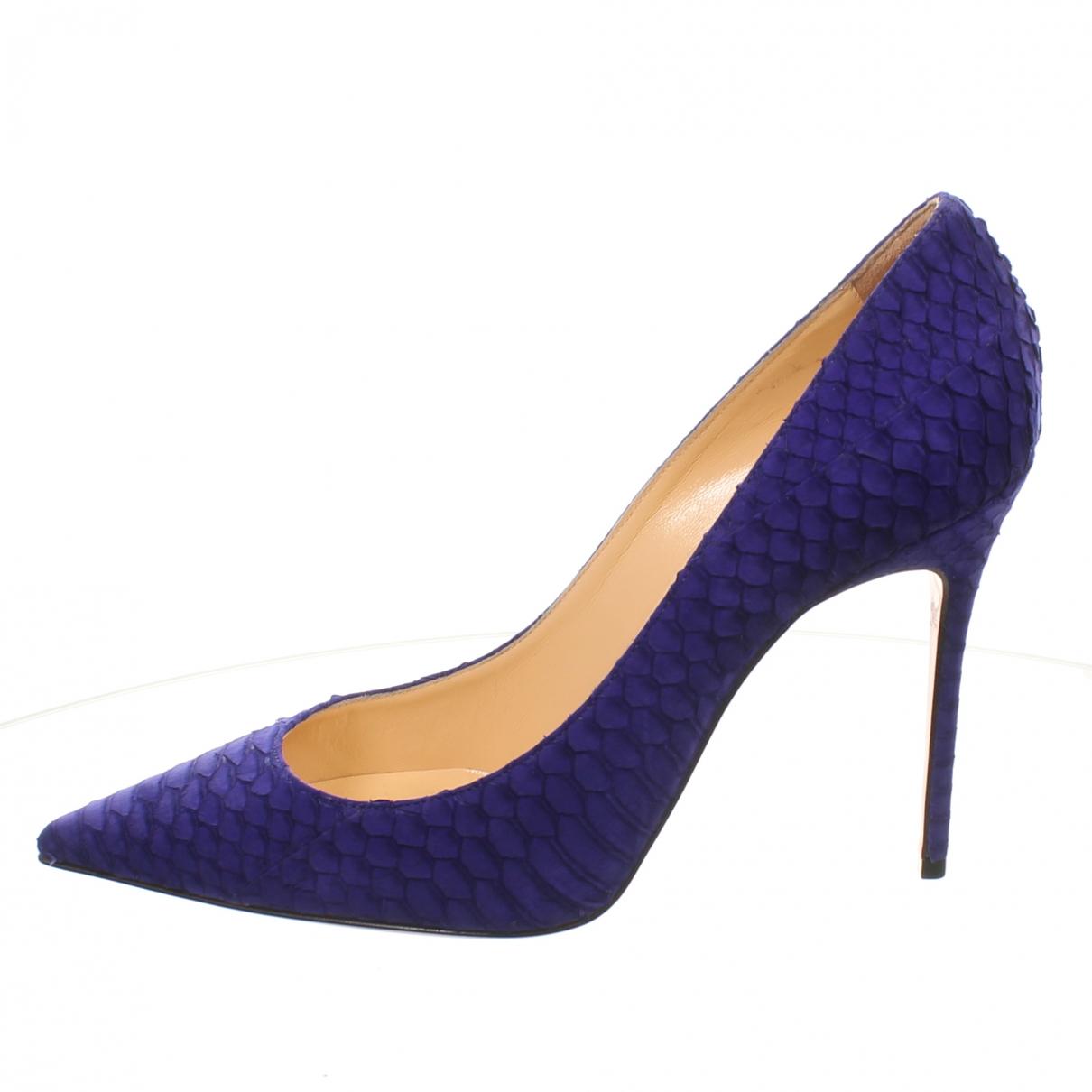 Christian Louboutin - Escarpins   pour femme en cuir - violet