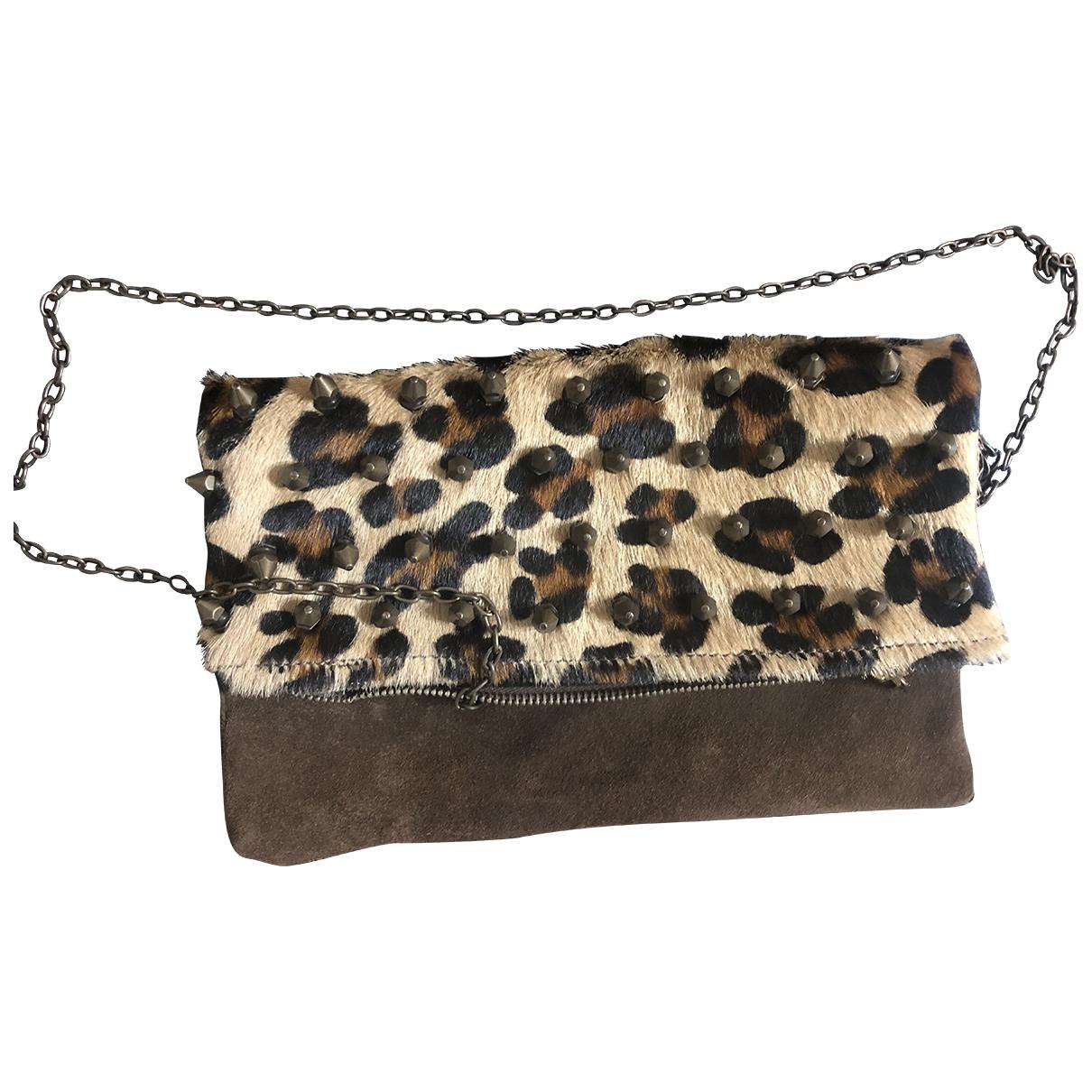 Mia Bag \N Clutch in  Bunt Leder