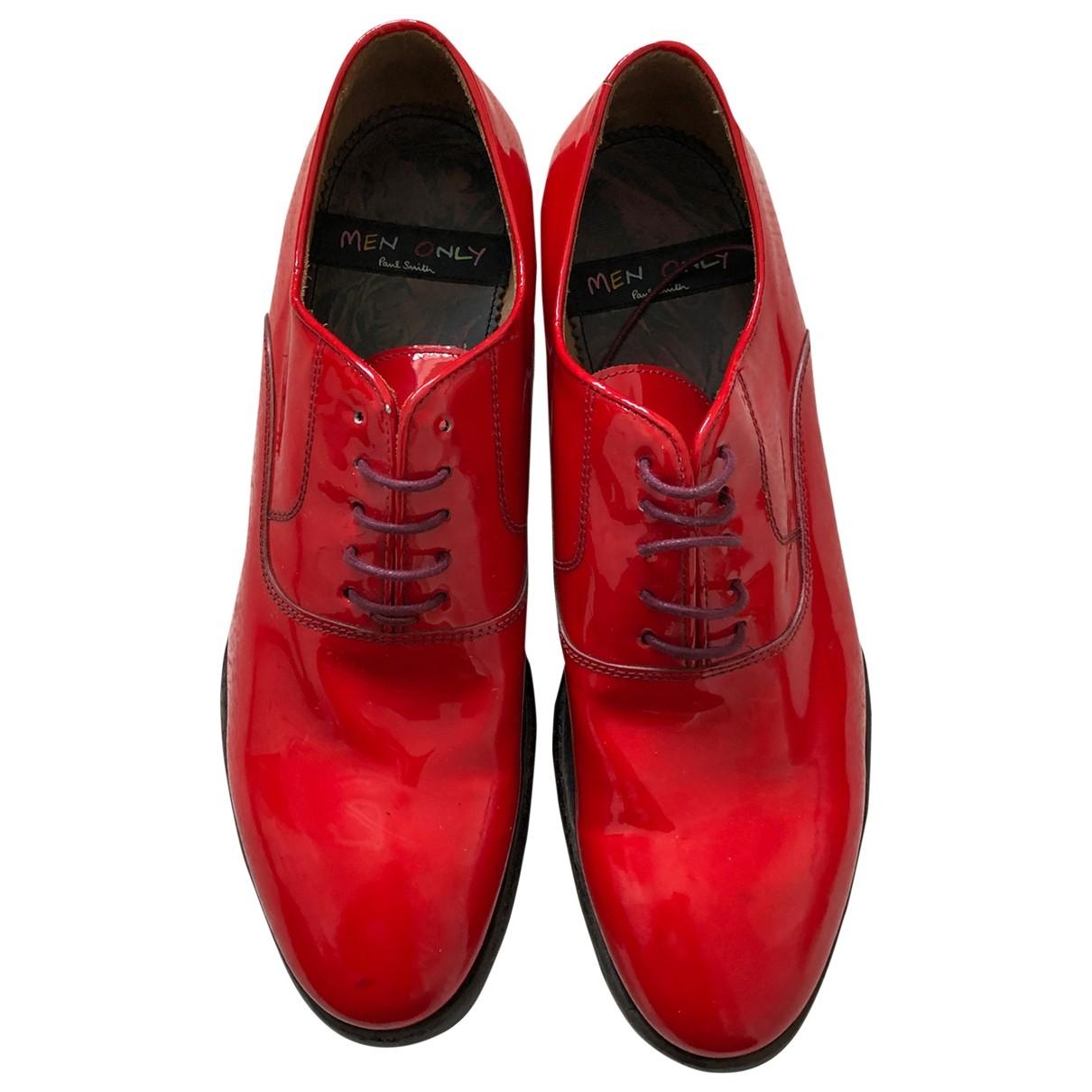 Paul Smith - Escarpins   pour femme en cuir - rouge