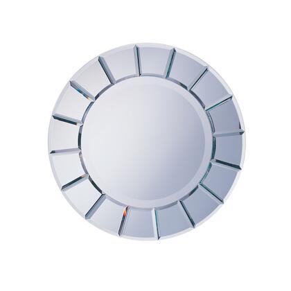 8637 Bevelled Sun Design Silver Mirror by Coaster